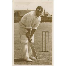 "ALMA ""CHAMP"" HUNT (BERMUDA & SCOTLAND) SIGNED CRICKET POSTCARD"