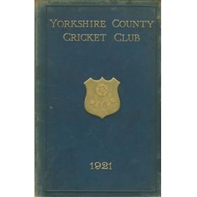YORKSHIRE COUNTY CRICKET CLUB 1921 [ANNUAL] - MEMBER