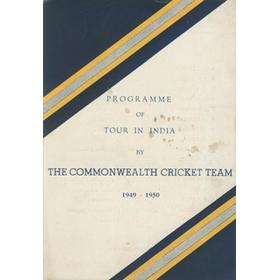 COMMONWEALTH CRICKET TEAM TOUR TO INDIA 1949-50 SOUVENIR BROCHURE