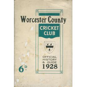 WORCESTER COUNTY CRICKET CLUB HISTORY AND GUIDE 1928