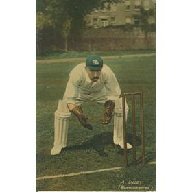 ARTHUR LILLEY (WARWICKSHIRE) CRICKET POSTCARD