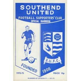 SOUTHEND UNITED FOOTBALL CLUB HANDBOOK 1972-73