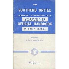 SOUTHEND UNITED FOOTBALL CLUB HANDBOOK 1956-57
