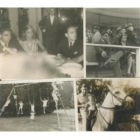 ANGEL SANTAMARINA - ARGENTINIAN FENCER IN 1924 OLYMPICS (GROUP OF 4 PHOTOGRAPHS)