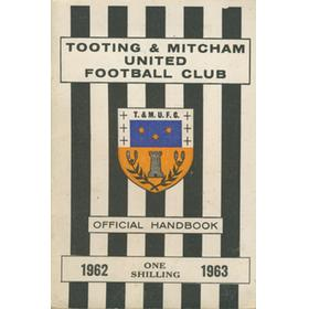 TOOTING & MITCHAM FOOTBALL CLUB OFFICIAL HANDBOOK 1962-63