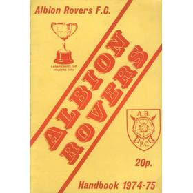 ALBION ROVERS FOOTBALL CLUB OFFICIAL HANDBOOK 1974-75