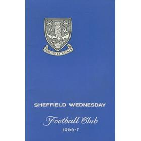SHEFFIELD WEDNESDAY FOOTBALL CLUB OFFICIAL HANDBOOK 1966-67