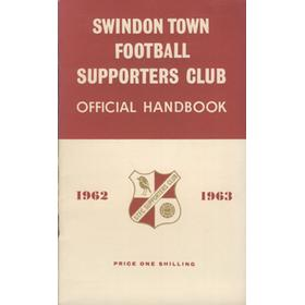 SWINDON TOWN FOOTBALL SUPPORTERS CLUB OFFICIAL HANDBOOK 1962-63