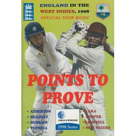 ENGLAND CRICKET TOUR TO THE WEST INDIES 1998 BROCHURE
