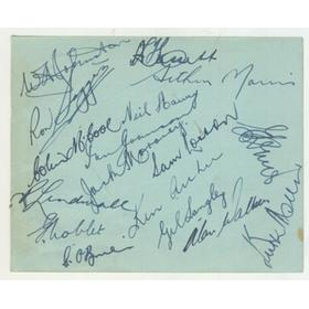 AUSTRALIA TOUR TO SOUTH AFRICA 1949-50 CRICKET AUTOGRAPHS