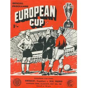 REAL MADRID V EINTRACHT FRANKFURT 1960 (EUROPEAN CUP FINAL) FOOTBALL PROGRAMME