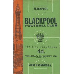 BLACKPOOL V WEST BROMWICH ALBION 1963-64 FOOTBALL PROGRAMME