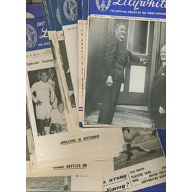 THE LILYWHITE: SPURS SUPPORTERS CLUB MAGAZINE (1950 ONWARDS) - 30 IN TOTAL
