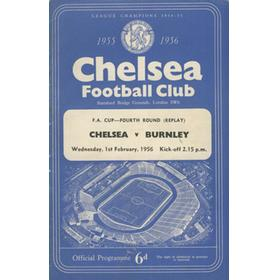 CHELSEA V BURNLEY 1955-56 FOOTBALL PROGRAMME