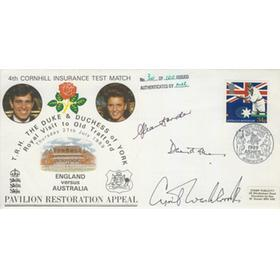 ENGLAND V AUSTRALIA 1989 (OLD TRAFFORD) SIGNED FIRST DAY COVER