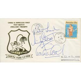 ENGLAND (TOUR TO WEST INDIES) 1989-90 SIGNED FIRST DAY COVER