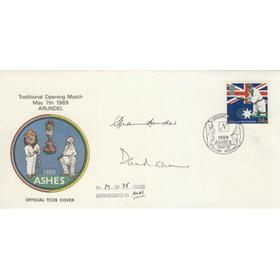 ENGLAND V AUSTRALIA 1989 (ARUNDEL) SIGNED FIRST DAY COVER
