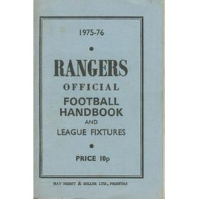 THE RANGERS OFFICIAL FOOTBALL HANDBOOK AND LEAGUE FIXTURES 1975-76