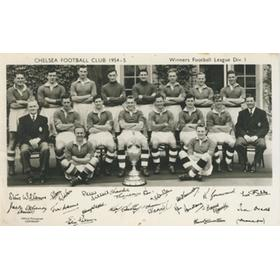 CHELSEA 1954-55 (LEAGUE CHAMPIONS) FOOTBALL POSTCARD