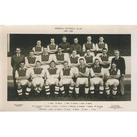 ARSENAL 1949-50  FOOTBALL POSTCARD