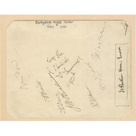 DERBYSHIRE 1930 CRICKET AUTOGRAPHS