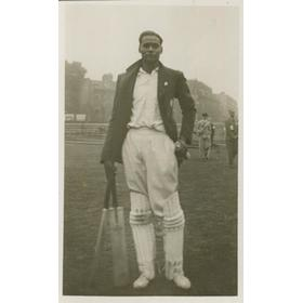 AMAR SINGH 1932 (ALL INDIA) CRICKET POSTCARD