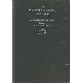 BARBARIAN RECORDS - A COMPLETE RECORD OF THE BARBARIAN FOOTBALL CLUB 1890-1932