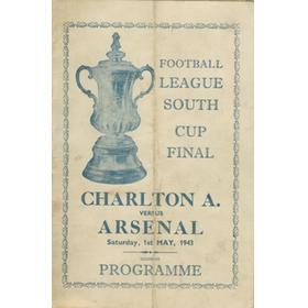 CHARLTON ATHLETIC V ARSENAL 1943 (FOOTBALL LEAGUE SOUTH CUP FINAL) SOUVENIR FOOTBALL PROGRAMME