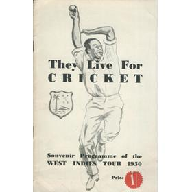 THEY LIVE FOR CRICKET - WEST INDIES CRICKET TOUR TO ENGLAND 1950
