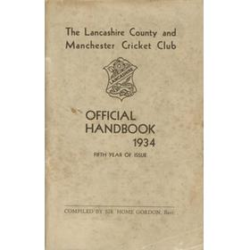LANCASHIRE COUNTY & MANCHESTER CRICKET CLUB OFFICIAL HANDBOOK 1934