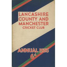LANCASHIRE COUNTY & MANCHESTER CRICKET CLUB OFFICIAL HANDBOOK 1933
