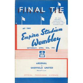 ARSENAL V SHEFFIELD UNITED 1936 (F.A. CUP FINAL) FOOTBALL PROGRAMME