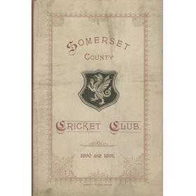 SOMERSET COUNTY CRICKET CLUB 1890 AND 1891 (YEARBOOK)