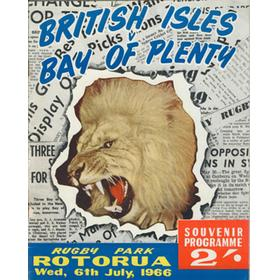 BAY OF PLENTY V BRITISH ISLES 1966 RUGBY PROGRAMME