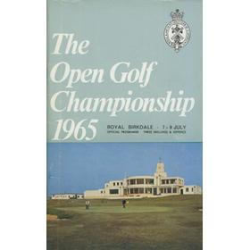 OPEN CHAMPIONSHIP 1965 (ROYAL BIRKDALE) GOLF PROGRAMME