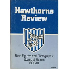 HAWTHORNS REVIEW - FACTS, FIGURES AND PHOTOGRAPHIC RECORD OF SEASON 1980-81