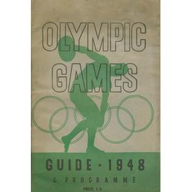 1948 OLYMPIC GAMES GUIDE AND PROGRAMME