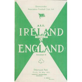 ALL IRELAND V ENGLAND 1955 FOOTBALL PROGRAMME