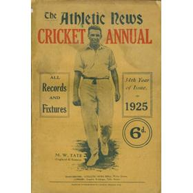 ATHLETIC NEWS CRICKET ANNUAL 1925