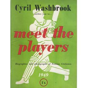 CYRIL WASHBROOK INVITES YOU TO ... MEET THE PLAYERS