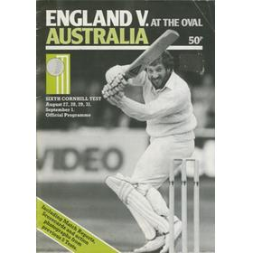 ENGLAND V AUSTRALIA 1981 (6TH TEST AT THE OVAL) SOUVENIR CRICKET PROGRAMME