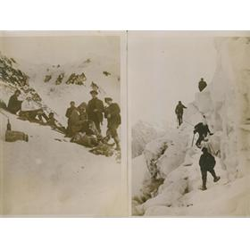 GERMAINE THIRIEZ (19 YEARS OLD) CLIMBING MONT BLANC 1930S - TWO ORIGINAL PHOTOGRAPHS