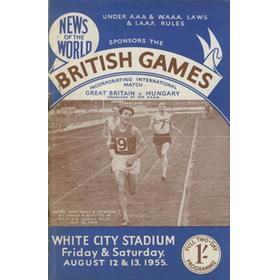 GREAT BRITAIN V HUNGARY 1955 ATHLETICS PROGRAMME