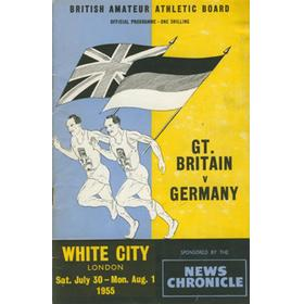 GREAT BRITAIN V GERMANY 1955 ATHLETICS PROGRAMME