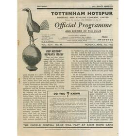 ARSENAL V CHELSEA 1952 (FA CUP SEMI-FINAL REPLAY) FOOTBALL PROGRAMME