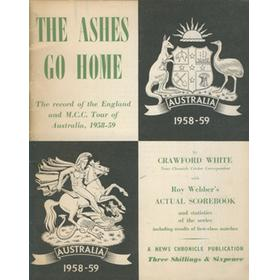 THE ASHES GO HOME: ENGLAND TOUR OF AUSTRALIA 1958-59