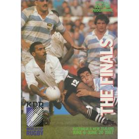 "RUGBY WORLD CUP 1987 ""THE FINALS"" PROGRAMME"