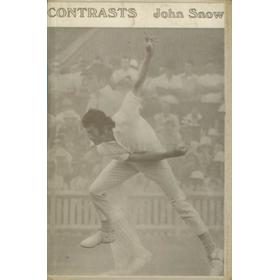 CONTRASTS. POEMS BY JOHN SNOW