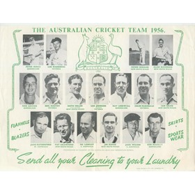 THE AUSTRALIAN CRICKET TEAM 1956 SOUVENIR SHEET