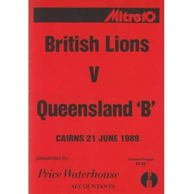 BRITISH LIONS V QUEENSLAND